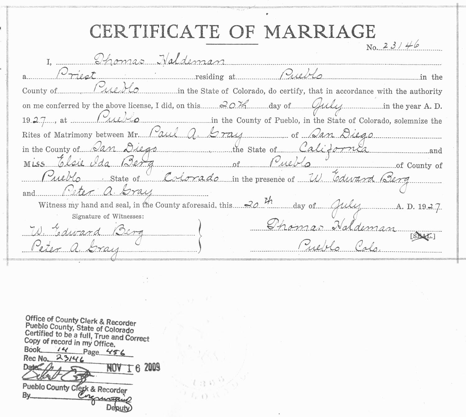 1007 lake avenue pueblo co 81004 here is a copy of the marriage certificate 1betcityfo Gallery
